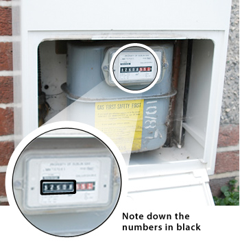 Submit a meter reading for your natural gas bill