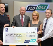 Flogas gives €500 to Drogheda Homeless Aid