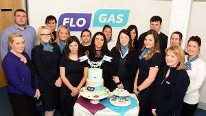 Flogas Natural Gas team celebrates 100% Customer Satisfaction Ratings